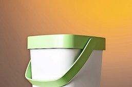 Poubelle innovante pour déchets verts