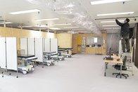 Le garage des ambulances du CHUV transformé en hôpital