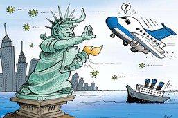 Trump ferme les Etats-Unis aux avions européens