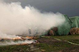 Environ 400 balles de paille partent en fumée à Chiètres