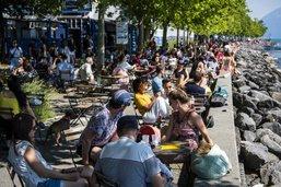 A Lausanne, les terrasses reprennent peu à peu vie