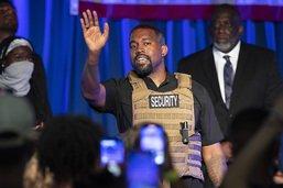 Le candidat à la présidentielle Kanye West fond en larmes