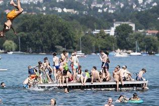 Les 30 degrés ont été dépassés dans une grande partie de la Suisse