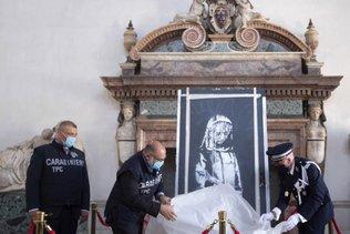 L'Italie a restitué à la France un Banksy volé au Bataclan