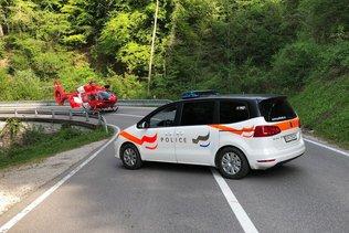 Un motard grièvement blessé à Broc