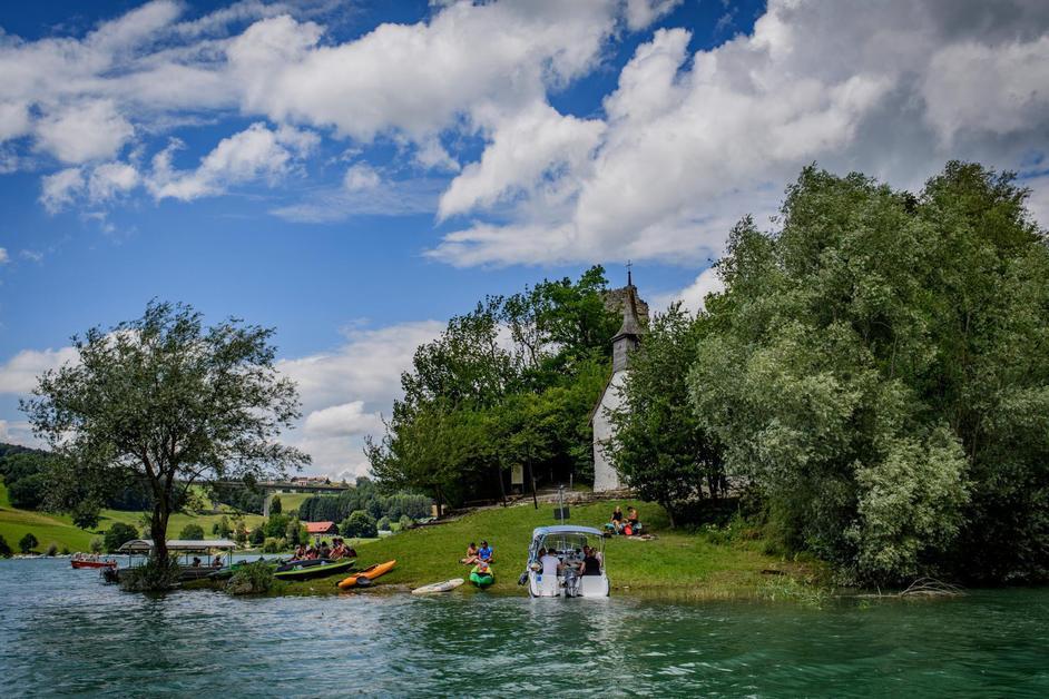 Un dimanche au lac de la Gruyère