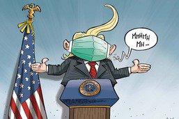 Le président des Etats-Unis reconnait enfin l'utilité du masque
