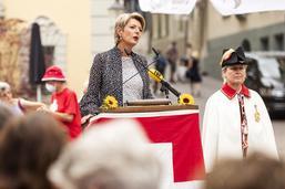 Karin Keller-Sutter loue la capacité de compromis de la Suisse