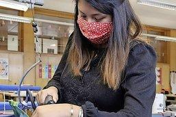 Des masques de protection avec une touche de terroir