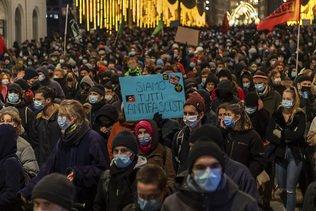 Manifestations de soutien au mouvement antifasciste à Bâle