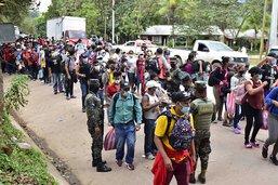 Les migrants honduriens se heurtent à la police guatémaltèque