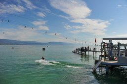 Un nouveau téléski nautique à Estavayer-le-Lac