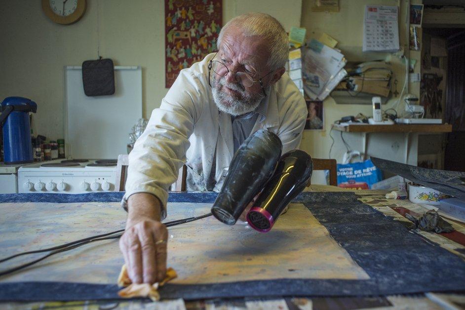 L'atelier du peintre André Sugnaux