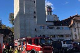 Un incendie s'est déclaré dans un moulin de Flamatt