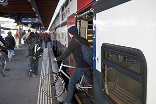 Plus de places pour les vélos dans les trains dès 2022