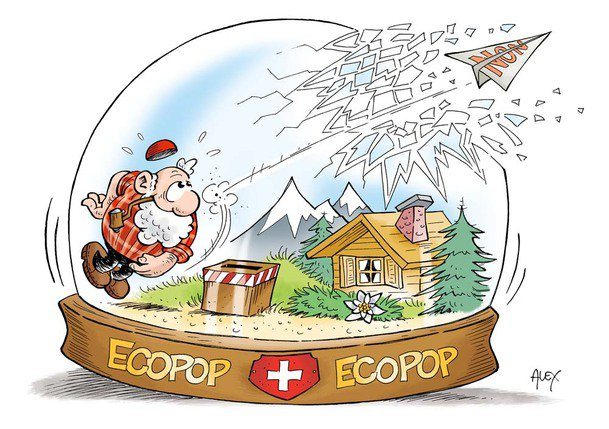 Le peuple suisse refuse l'initiative Ecopop. © Alex